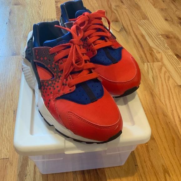 Nike Shoes   Red And Blue Huarache